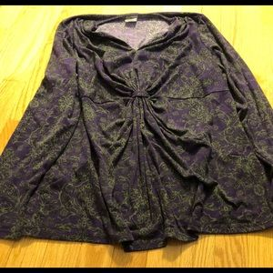 Purple/Grey Knit Top